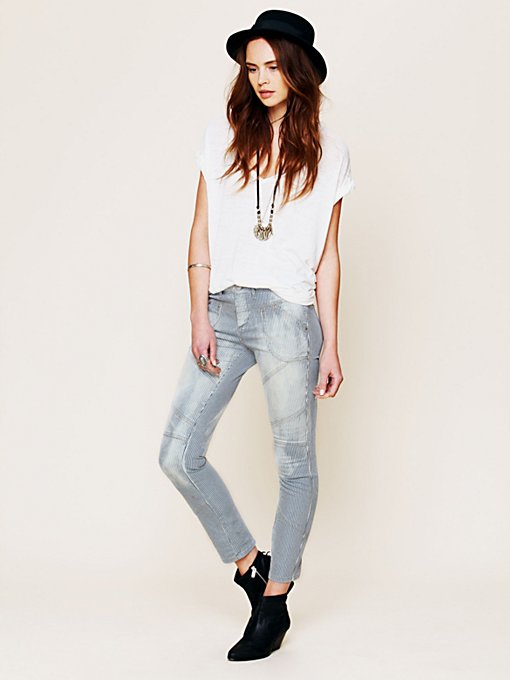Free People Railroad Seamed Skinny in Colored-Jeans