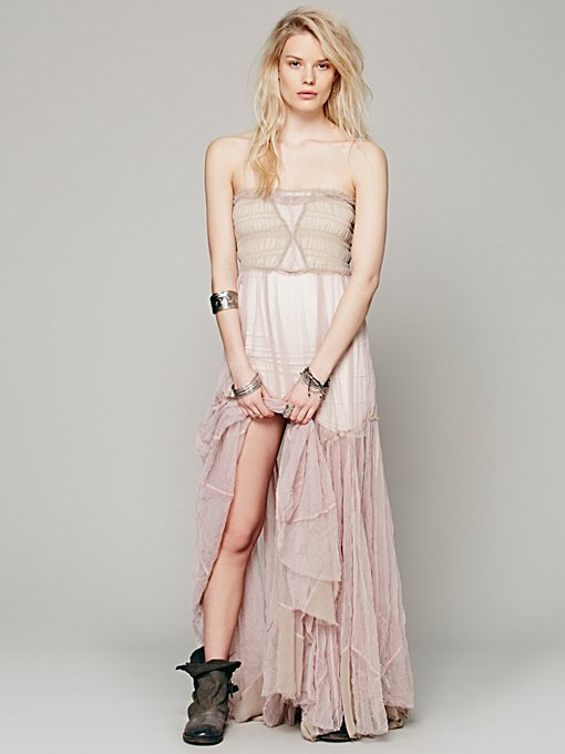 Free People Raw Tulle Maxi Slip in slips
