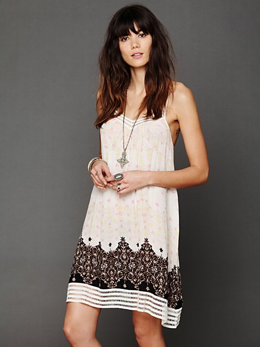 Printed Voile Lace Slip in shop-by-shape
