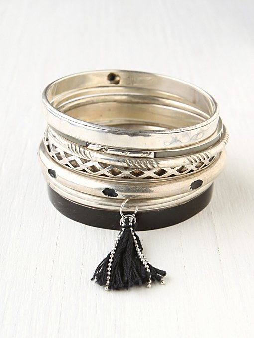 Hard Bangle Set in boho-jewelry