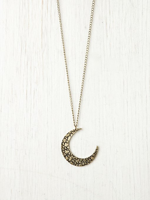 Moon Crescent Necklace in boho-jewelry