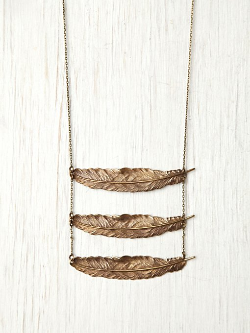 Feather Breastplate Necklace