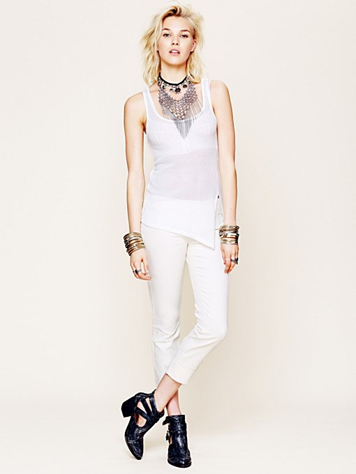 Free People Skinny Pull On Crop in Jeans