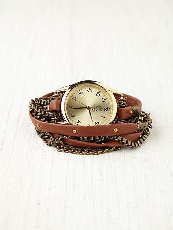 Sara Designs Multi Chain Wrap Watch