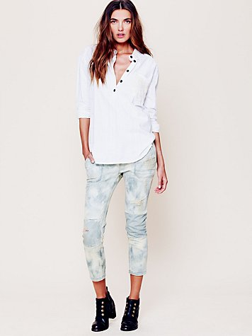 Free People Patched Utility Skinny