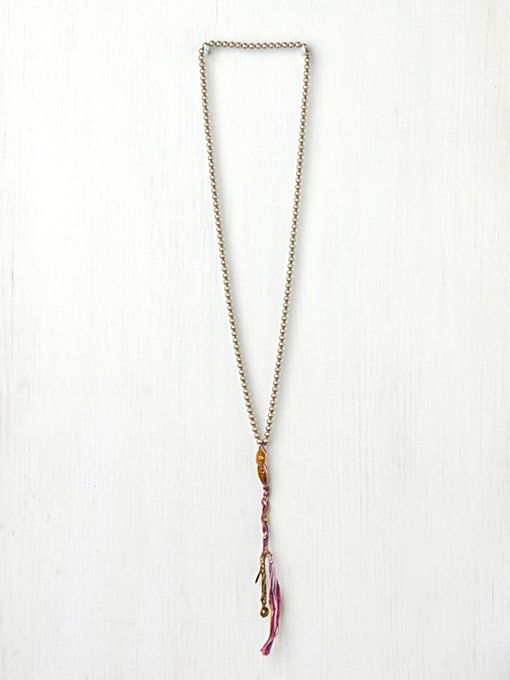 Chan Luu Pearl Tassel Necklace in bib-necklaces
