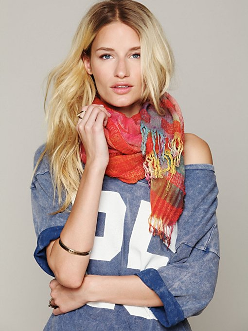 Space Dye Raw Edge Scarf in sale-sale-accessories