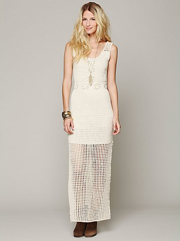 Free People Kristal's Crochet Daisy Dress