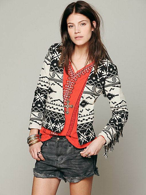 Ikat On The Fringe Jacket in jackets-2