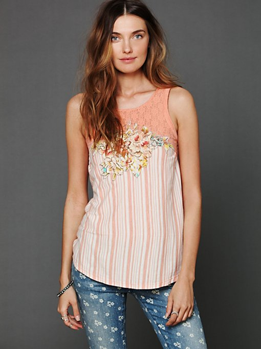 Free People Eclectic Juxtaposition Tunic in sheer-blouses