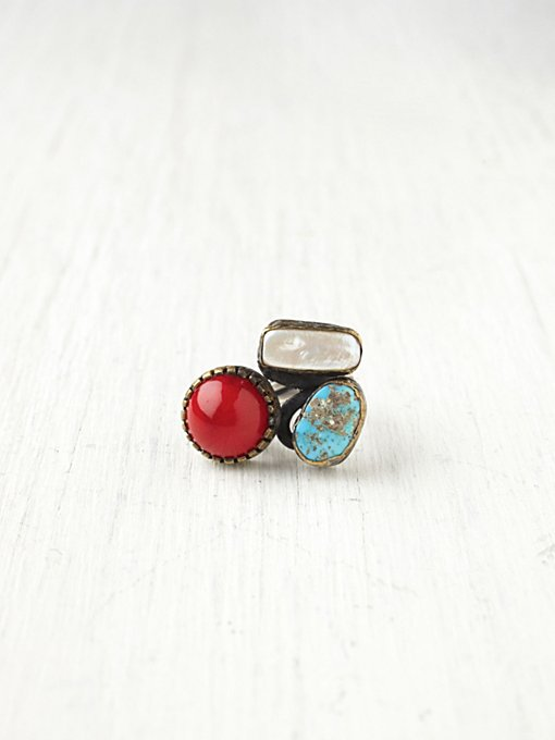Bora Mixed Stone Ring in boutique-rings-earrings