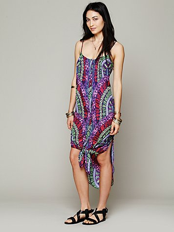 Medicine Wheel Print Easy Dress