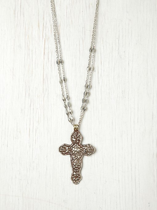 Santa Maria Cross Pendant in accessories-jewelry-necklaces