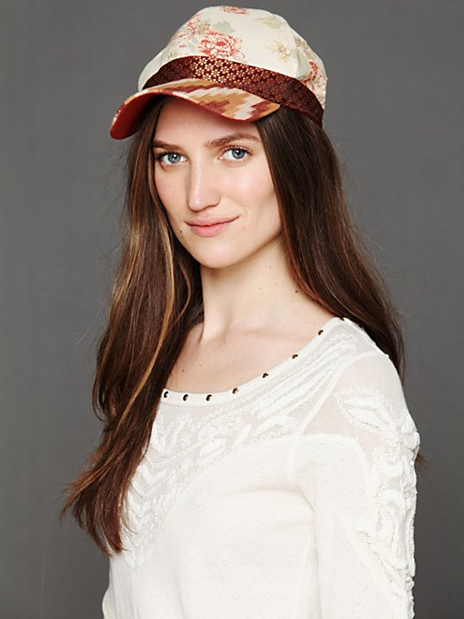 Ikat Embroidery Baseball Hat in Hats