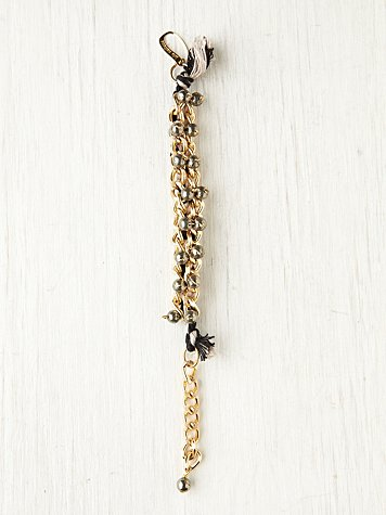 Chain Threaded Bead Bracelet