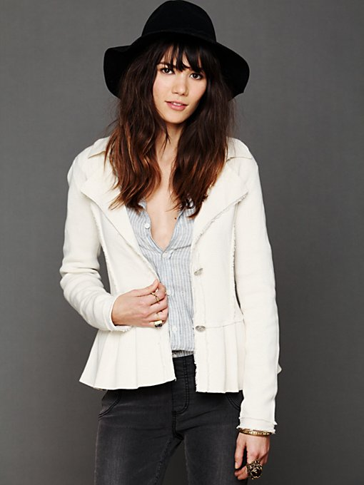 Free People Capital Peplum Jacket in Jackets