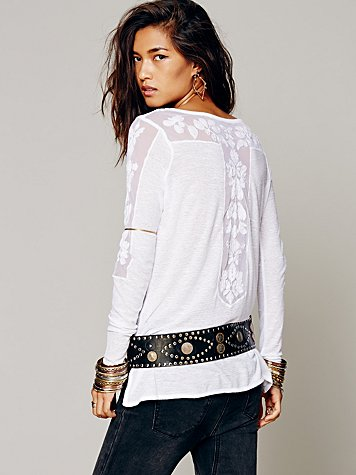 Free People FP New Romantics Jilly Tee