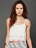 Embroidered Hem Crop Cami