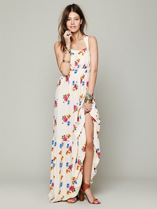 Candela Rose Print Maxi in white-maxi-dresses