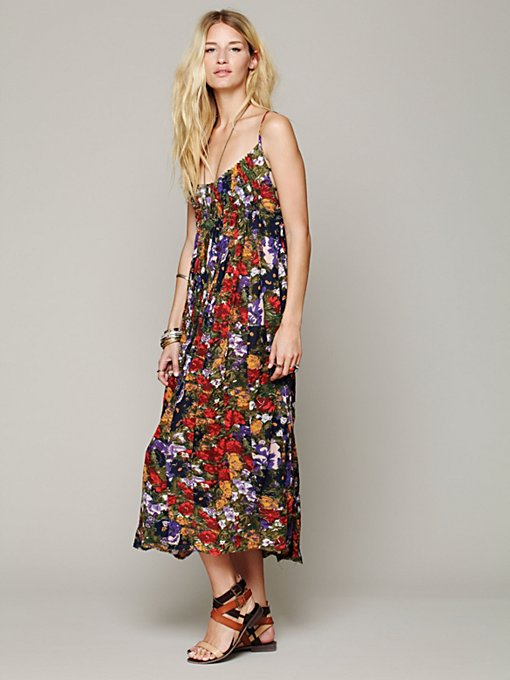 Free People FP ONE Criss Cross Florals Maxi Dress in Floral-Dresses