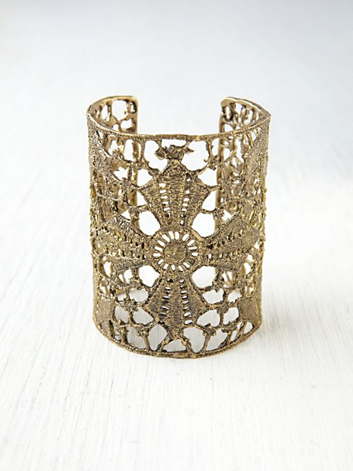 Maltese Lace Cross Cuff in accessories-jewelry-bracelets
