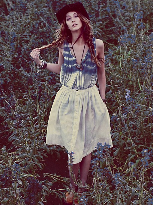 Skies of Blue Buttondown Skirt in mar-13-catalog-items