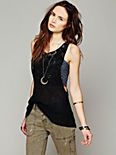 Mixed Lace Drop Tank