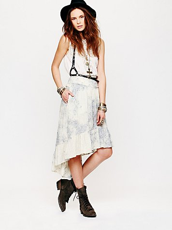 Free People Blue Skies Skirt