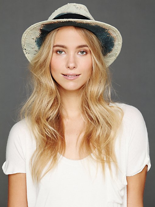 Straw Panama Hat in accessories-hats-fedoras-caps