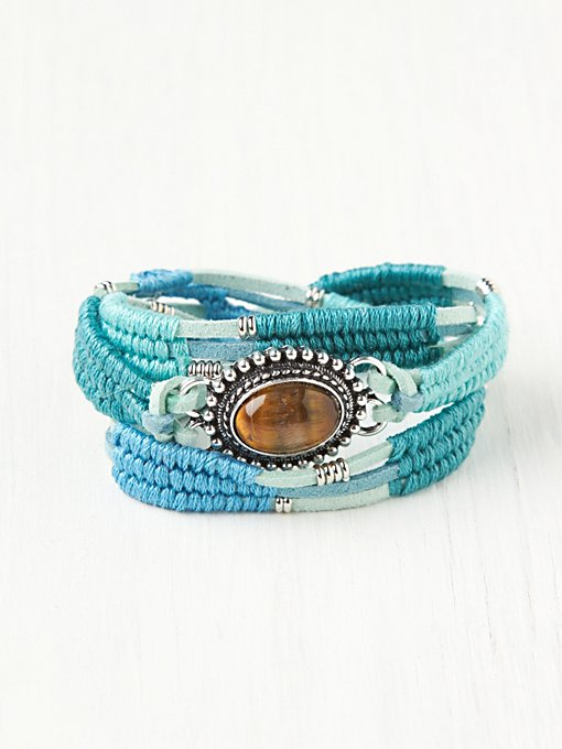 Stone Center Bun Wrap in bracelets