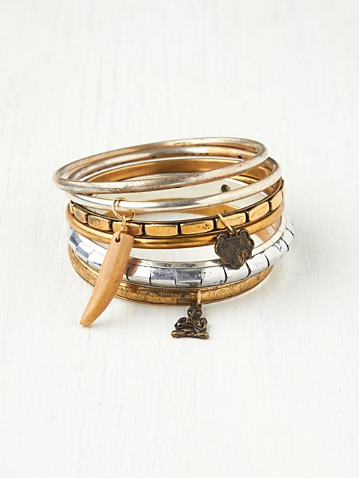 Charmed Hard Bangle Set in jewelry