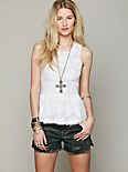 FP New Romantics Beaded Peplum Tank