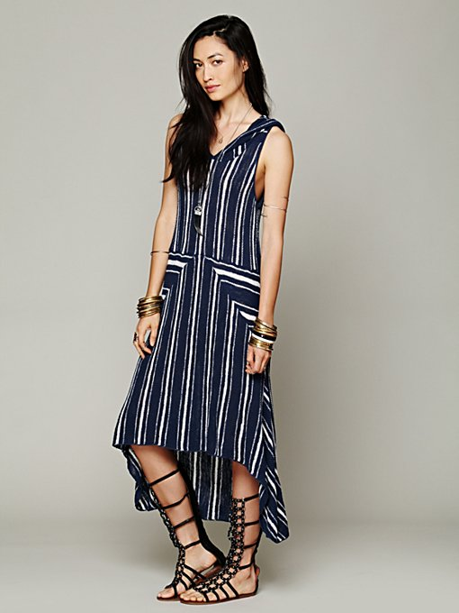 Striped Hooded Swit Dress in whats-new
