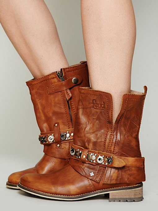 Feud Addison Military Boot in Studded-Boots