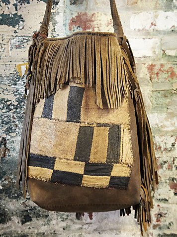 T Smith Knowles Vintage African Patchwork Bag #1031