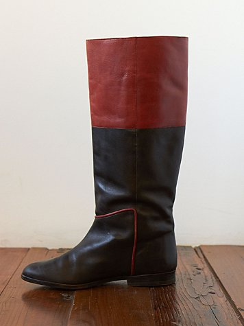 Free People Vintage Brown Leather Riding Boots