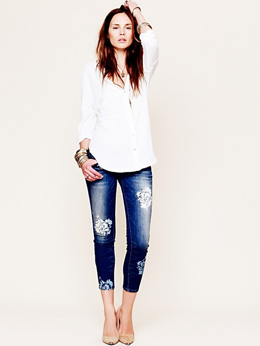 Free People Magnolia Ankle Skinny in Colored-Jeans
