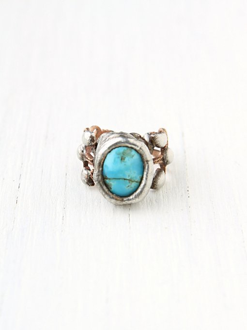 Mikal Wynn Filagree Stone Ring in bohemian-rings