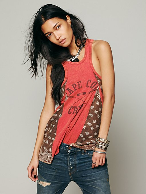 We The Free  Graphic Bandana Tank in Party-Tops