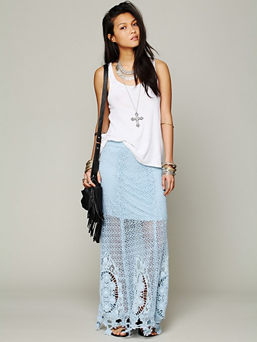Free People Mi Amore Maxi Skirt in maxi-skirts