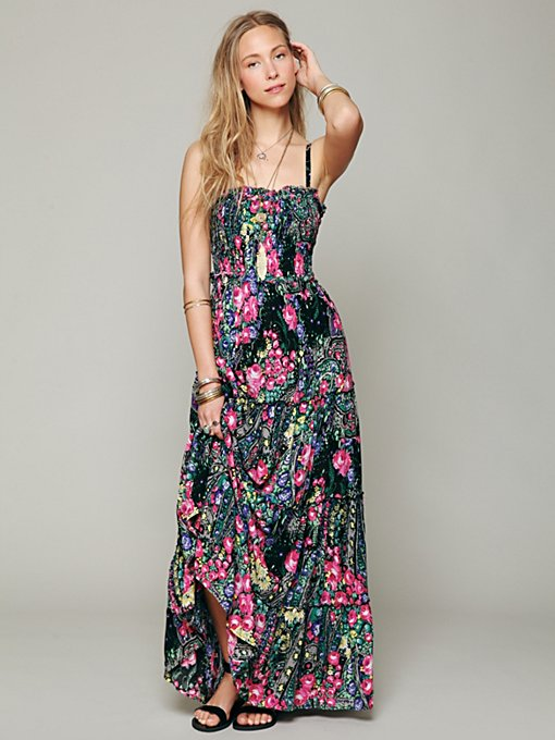 Free People Easy Come Easy Go Dress in black-maxi-dresses