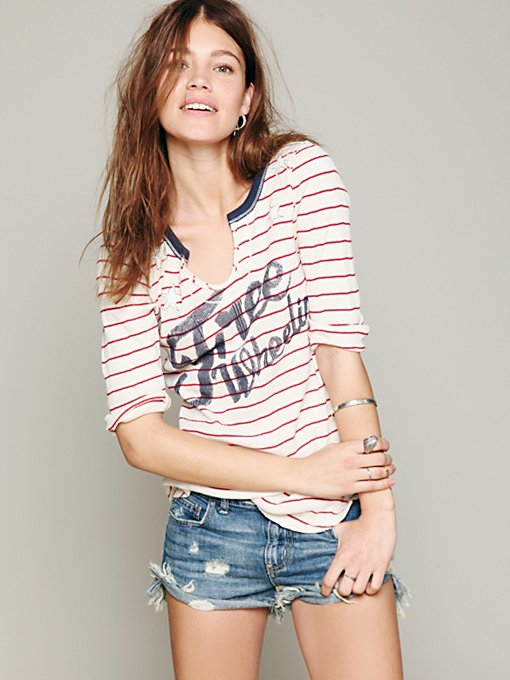 We The Free Stripe Star Graphic Tee in clothes-tops-graphic-tees