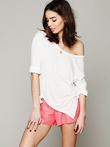Lurex Stripe Hipster Shorts