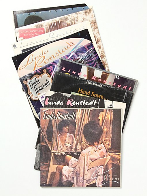 "Free People Vintage ""Linda Ronstadt"" Collection of Records in Vintage-Objects"
