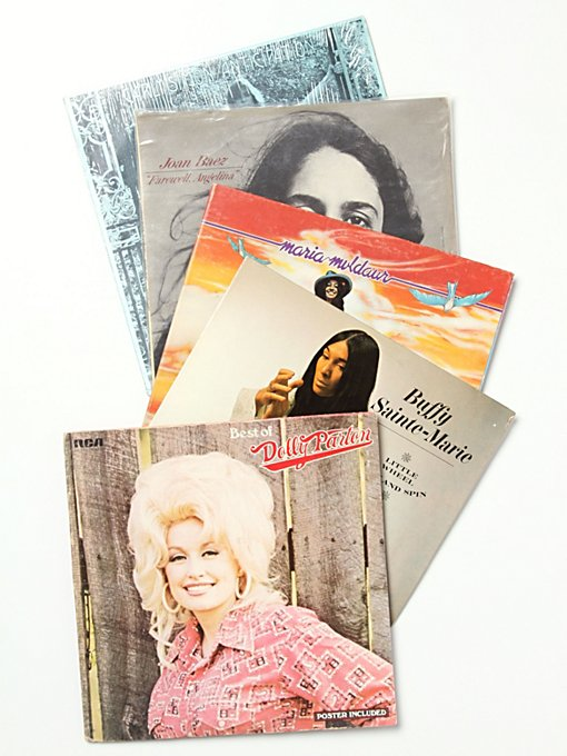 "Free People Vintage ""The Soft Chicks"" Collection of Records in Vintage-Objects"