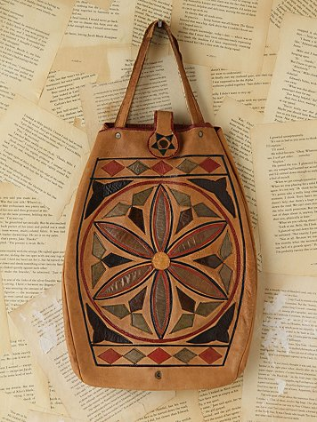 Vintage Patterned Leather Bag