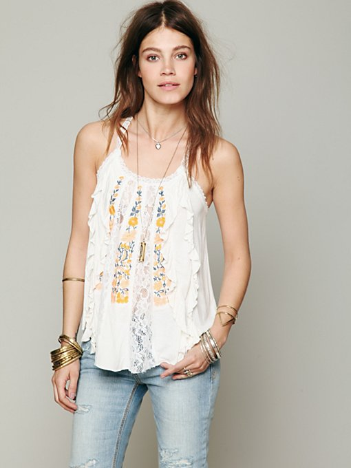 Free People FP X Mademoiselle Top in Party-Tops