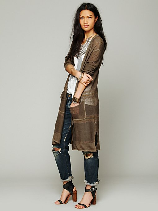 Enraptured Slub Cardigan in cardigans-jackets