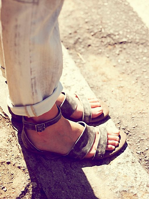 Free People Crowe Distressed Sandal in designer-sandals