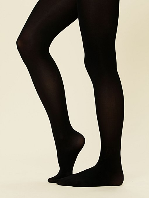 Black Opaque Tight in accessories-socks-legwear